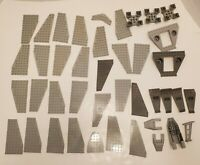 LEGO LOT MIX GREY WING PLATE PIECES BASE SPACESHIP JET PLANE PARTS