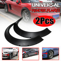 2X Universal Car Fender Flares Over Wide Body Wheel Arches ABS 80mm Polyurethane