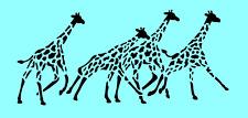 GIRAFFE STENCIL BORDER GIRAFFES ANIMAL PATTERN CRAFT ART STENCILS NEW BY SIMS