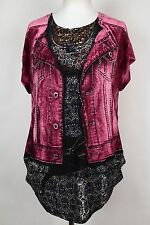 NEW WOMEN  TUNIC size  18/20  TOP SHORT SLEEVE SEQUINS  BLOUSE  LADIES    1248