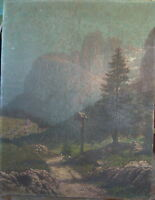 ::GUSTAV LAUENROTH *1897 °HAUPTWERK DOLOMITEN ALPEN ANTIK ÖLGEMÄLDE / S1R3