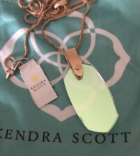 New Kendra Scott Inez Necklace Clear Dichroic Iridescent $90.00