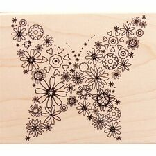BLOOMING BUTTERFLY - HERO ARTS - Wood Mounted Rubber Stamp