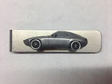 Porsche 928 ref191 pewter effect car on a stainless steel money clip