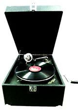 Replica Gramophone Player 78 rpm Suitcase Reproduction Record Player Vintage