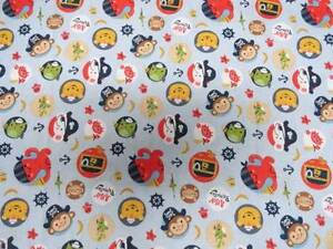 CRIB SHEET/ FITTED/ COTTON -MONKEY PRIRATES TREASURE CHEST AND FRIENDS