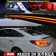 OEM Roof Glass Wing Lip Spoiler - Black with LED for 2015-2017 Hyundai Sonata