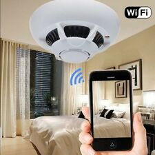 WiFi HD 1080p Spy IP Camera Hidden Security Smoke Detector DV DVR Anti Theft KJ