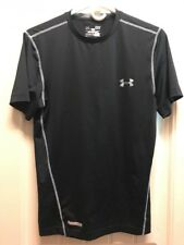 Under Armour Men's Fitted Heat Gear Athletic Shirt Black Size Small