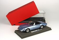 BBR 1966 Ferrari 365 California s/n 09127 Blue w/Case 1:18 1814CV Last One-RARE!