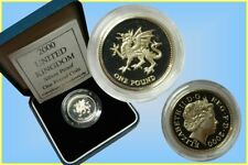 GB. - 1 Pound 2000 Silver Proof ' Welsh Dragon'