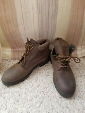 Vintage Mont Blanc Brown Suede Hiking Boots US Women's 11 leather