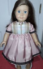 "Pink and Gold Dress  Fits American Girl or 18"" doll"