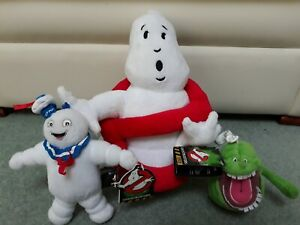 Ghostbusters Soft Plush Logo Stay Puft & Slimer Toy Lot Whitehouse 2013 2016