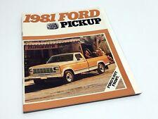 1981 Ford F-100 F-150 F-250 F-350 Pickup Brochure