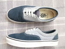 Mens VANS Size UK 7 US 8 Blue Suede & Chambray with dots Sneakers trainers pump