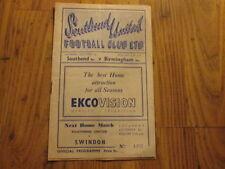 Southend United Football Reserve Fixture Programmes (1950s)