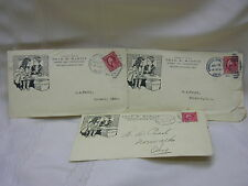3 Vintage 1913 Cover Letters Chicago Junction Ohio Thad. K. Martin Bakery