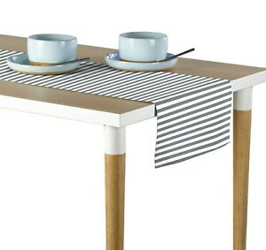 """Small Stripes Gray Table Runners - 12""""x72"""" or 14""""x108"""""""