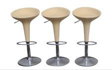 Set of 3 Original MAGIS Bombo Bar Stools by Stefano Giovannoni Matte Peach Color