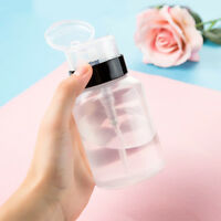 200ML Nail Art Plastic Pump Dispenser Varnish New Remover Press Bottle Polish LE
