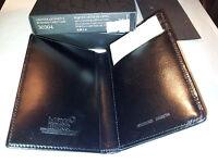 PORTA BIGLIETTI DA VISITA BUSINESS CARD CASE MONTBLANC MONT BLANC BLACK B