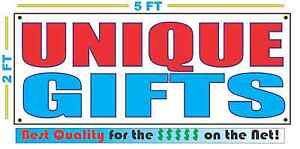 UNIQUE GIFTS Full Color Banner Sign NEW