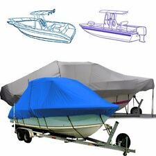 "Marine T Top Boat Cover fits a 27'6"" boat with a 120"" beam width."