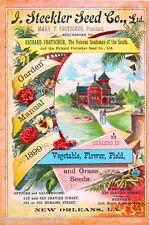 1899 Steckler Flower Vegetable Vintage Flowers Seed Packet Advertisement Poster