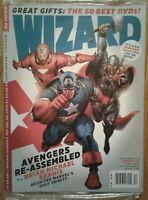 WIZARD COMICS MAGAZINE #218 December 2009 Sealed, Marvel Avengers cover