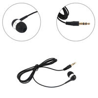 Universal Single Side Headset In Ear Mono Wire Earphone Earbud Headphone 3.5mm