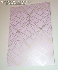 LILAC Geometric A5 NOTEBOOK Champagne Gold PAPERBACK Journal CREAM LINED Gatsby