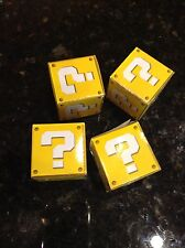 Super Mario Bros question mark coin box lot of 4 small cardboard boxes