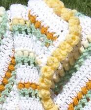 Tulip Field Crochet Throw, Baby or Lap Afghan Pattern