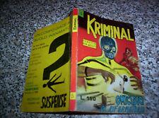 KRIMINAL N.5 ORIGINALE del 1964 CORNO TIPO SATANIK-DIABOLIK-MAGNUS-FORD