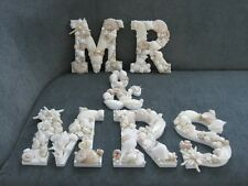 """Shell Letters, Beach Decor """"MR and MRS"""" Shell Letters Sign, Seashells, Wedding"""
