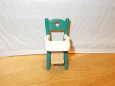 Fisher-Price Loving Family GREEN HIGH CHAIR Dollhouse Parts Furniture