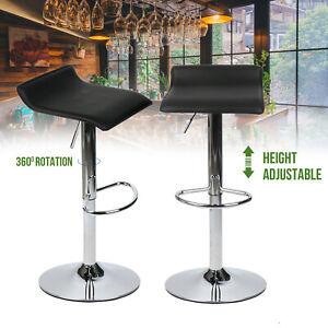 4 Set Pub Bar Stools Height Adjustable Swivel Chair Seat Counter Kitchen Bistro