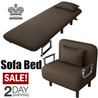 Convertible Sofa Bed Folding Arm Chair Sleeper Leisure Recliner Lounge Couch SH