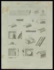 TUILES VERNISSEES EMILE MULLER - GRAVURE 1861 -