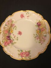 J. Pouyat Limoges Plate gold trim hand painted France