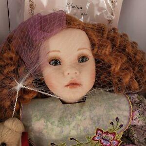 "Edwina Porcelain 22"" Doll Pauline Bjonness-Jacobsen Limited Edition w/ Box & COA"