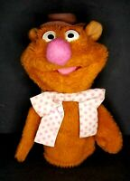 "Fisher-Price Muppets VINTAGE FOZZIE BEAR 10"" Plush Puppet Stuffed Animal 1978"