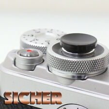SICHER Soft Release Shutter Button for Cameras. Quality Brass. BLACK Concave.
