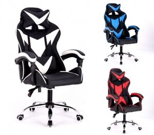 Gamingchair Gamingstuhl Bürostuhl Spielstuhl Racing Chair Chefsessel mit Kippf.