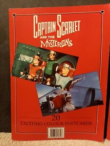 2 Captain scarlet and the mysterons postcard books