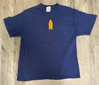 VB1 Rocket Nike Mens Graphic T-Shirt Blue 321 Fire Red Swoosh Vintage Tee L