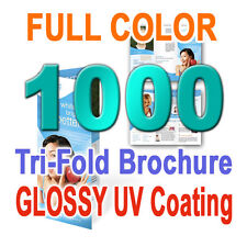 1000 Fold Brochure Printing 8.5x11 Tri-Fold and other..