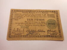 Philippines Emergency Currency Negros Occidental WWII Ten Pesos - Nice - # 88862