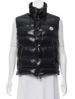 100% authentic MONCLER down tib vest black puffer puffy sleeveless shiny 0